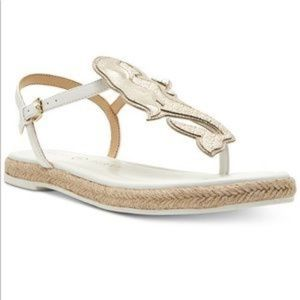 Katy Perry Mermaid Sandals Flat White Sz 9